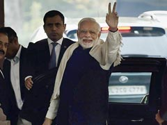 Flashing 'V' Sign, PM Modi Sets Off BJP's Gujarat, Himachal Celebration