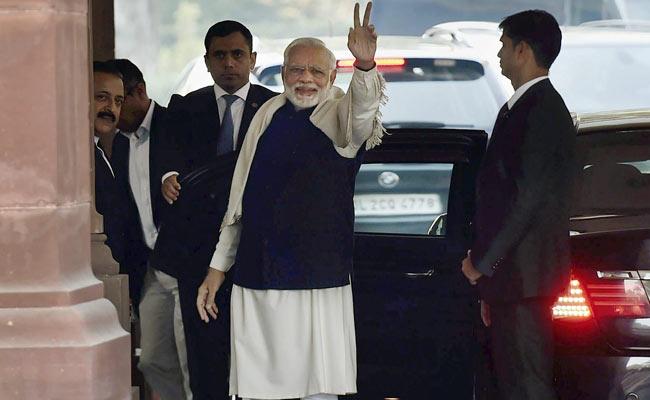 Flashing 'V' Sign, PM Modi Sets Off BJP's Gujarat, Himachal Celebration