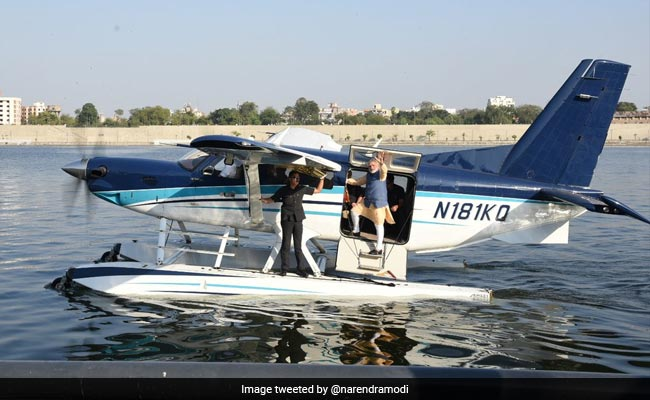 PM Modi Flies On Seaplane In Gujarat, Good Passenger Says Pilot