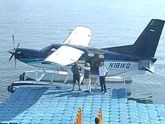 PM Modi Takes Seaplane Ride To Temple On Last Day Of Gujarat Campaign