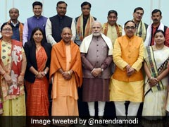 PM Modi Meets Yogi Adityanath, Newly-Elected UP Mayors