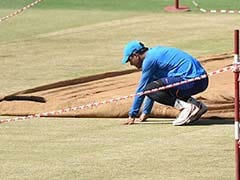 MS Dhoni Inspects Pitch Ahead Of First T20I Against Sri Lanka