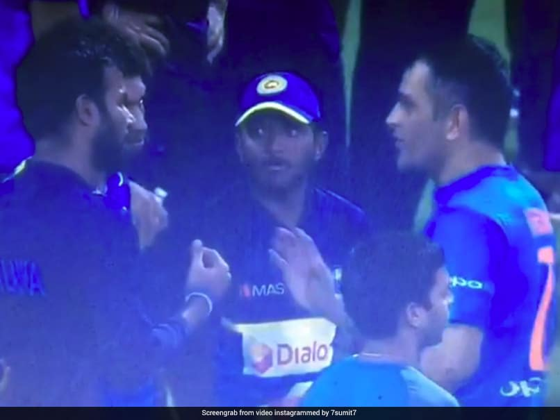 Watch: MS Dhonis Masterclass For Sri Lanka Players After Series Loss