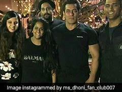 After Virushka Reception, Mahendra Singh Dhoni Attends Salman Khan's Birthday Bash