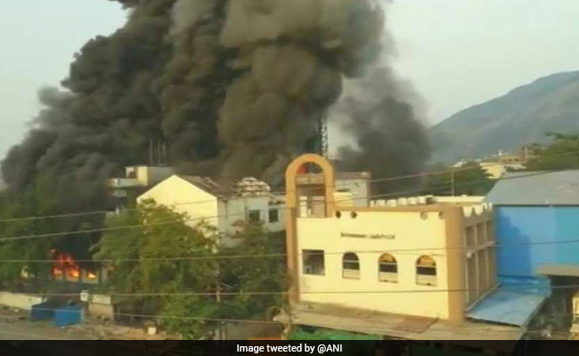 Fire Breaks Out At A Building In Navi Mumbai