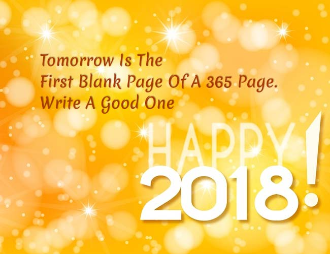 new year 2018 greetings