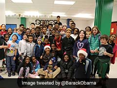 Watch: Barack Obama Dons Santa Hat, Delivers Gifts And Christmas Cheer