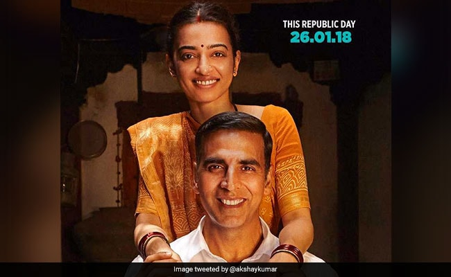 New PadMan Poster Features Akshay Kumar, Radhika Apte And A Sanitary Napkin