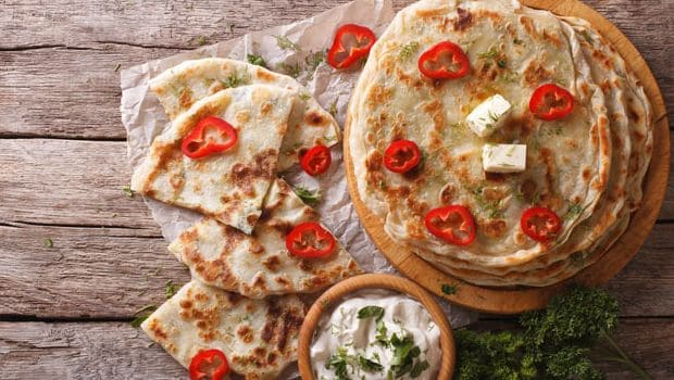 paratha with cheese
