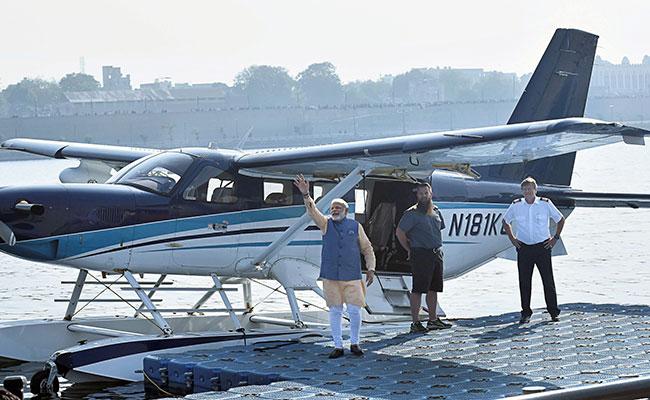 'Karachi' Detail Fuels More Buzz Over PM Modi's Seaplane Ride In Gujarat
