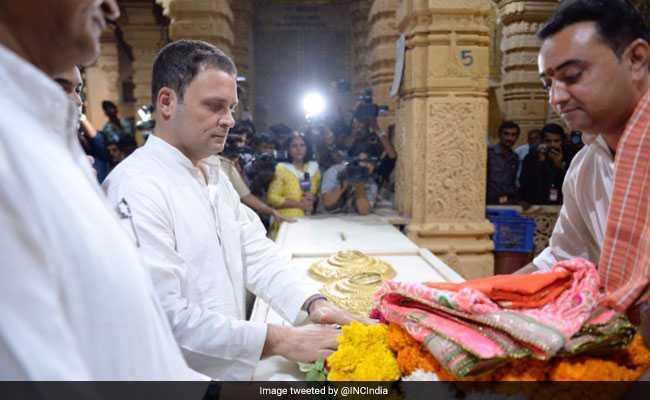 rahul gandhi 650 somnath temple twitter