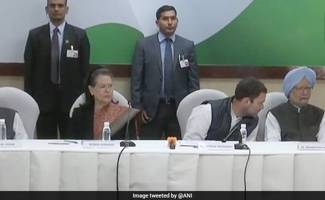 Rahul Gandhi Chairs First Congress Working Committee Meet As Party Chief