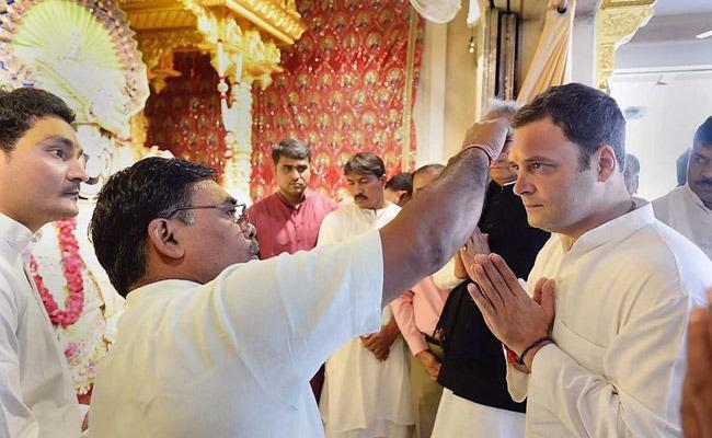 rahul gandhi jagannath temple ahmedabad pti