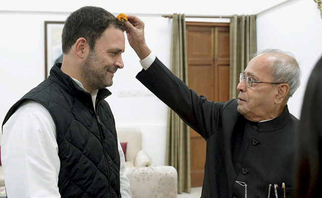 rahul gandhi pranab mukherjee pti