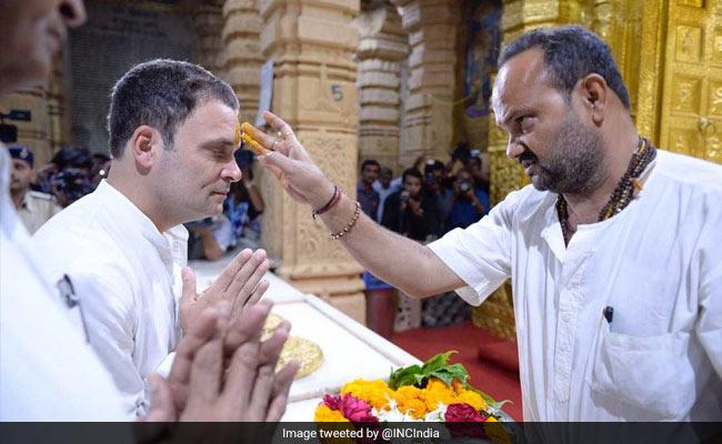 rahul gandhi somnath temple twitter
