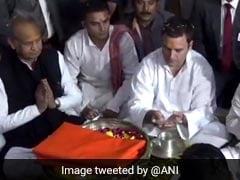 गुजरात चुनाव के बाद राहुल गांधी का पहला गुजरात दौरा, सबसे पहले की सोमनाथ मंदिर में पूजा अर्चना