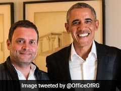 राहुल गांधी ने ओबामा से मुलाकात की, बोले- मिलना बहुत अच्छा रहा
