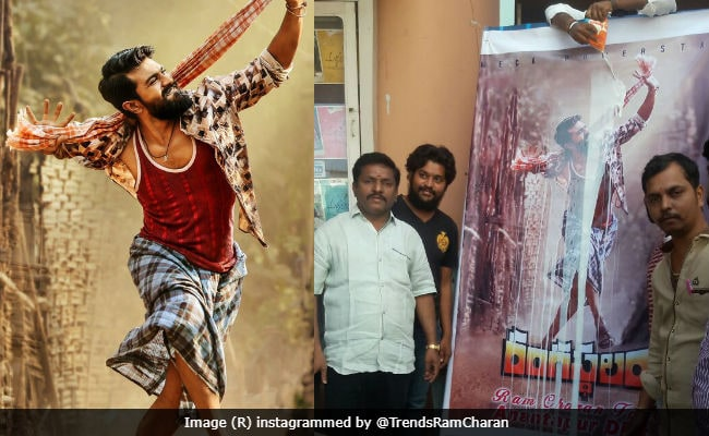 Rangasthalam First Look: Fans Welcome Ram Charan Teja, Samantha's Film By Pouring Milk On First Poster