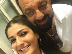 Raveena Tandon And 'Her Favourite' Sanjay Dutt In A Goofy Party Selfie