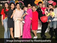 Rekha Looks Stunning In Pink At Adira Chopra's Birthday Party