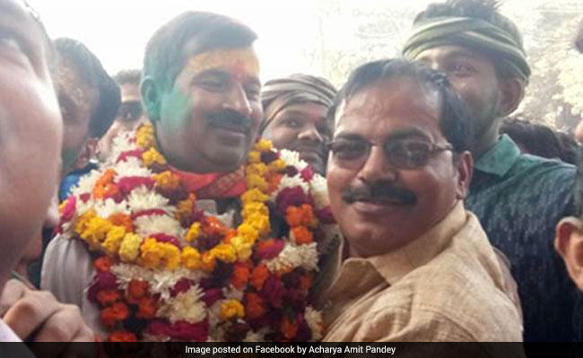 BJP's Rishikesh Upadhayay Elected First Mayor Of Ayodhya