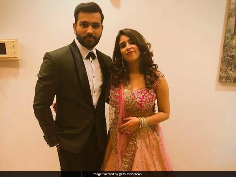 Virushka Wedding Reception Rohit Sharma Dons Black Tuxedo For