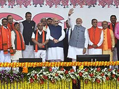 Vijay Rupani Takes Oath As Gujarat Chief Minister In Massive BJP Show Of Strength