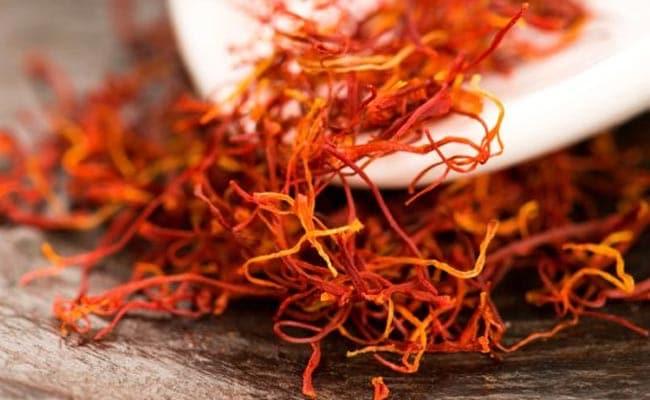 saffron gives a glowing skin