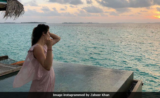 Pics From Sagarika Ghatge And Zaheer Khan's Honeymoon In Maldives