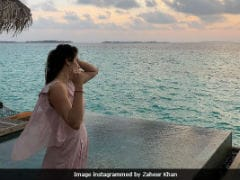 Pics From Sagarika Ghatge And Zaheer Khan's Honeymoon In Maldives