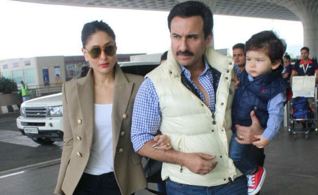 Kareena Kapoor, Saif Ali Khan Leave With Taimur For First Birthday At Pataudi Palace