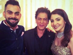 Anushka Sharma-Virat Kohli Mumbai Reception: Shah Rukh Khan Pranks Groom, Dances To <i>Chaiyan Chaiyan</i>