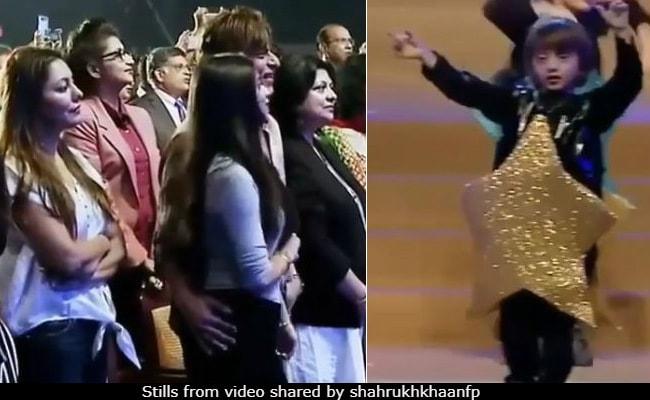 Viral Video: एनुअल डे पर पापा शाहरुख के गाने पर जमकर थिरके अबराम खान