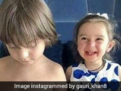This Pic Of Shah Rukh Khan's Son AbRam With Raageshwari Loomba's Daughter Samaya Is Sending The Internet Into A Meltdown