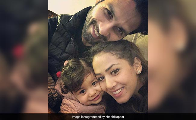This Perfect Family Picture Of Shahid Kapoor With Mira Rajput And Daughter Misha Is The Internet's Favourite