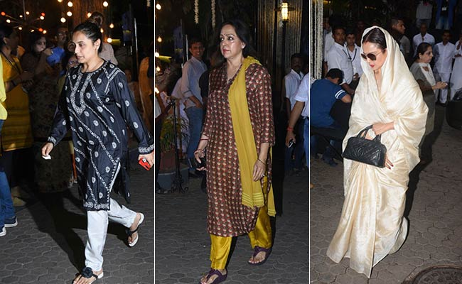 Shashi Kapoor's Prayer Meet In Mumbai. See Pics