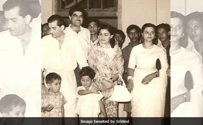 Sridevi Shares Million-Dollar Pic Of Raj Kapoor And Her Husband Boney