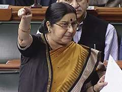 """""""India Ready To Spend Up To 400 Crore To Make Hindi An Official Language Of UN"""": Sushma Swaraj"""