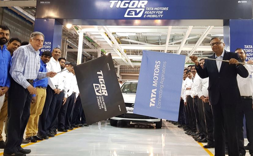 tata tigor ev roll out from sanand