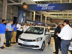 First Batch Of Tata Tigor Electric Vehicles Roll-Out From The Sanand Plant