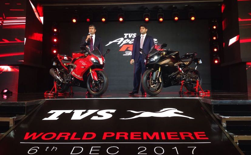 TVS Apache RR 310 Launched In India; Priced At &#8377 2.05 Lakh
