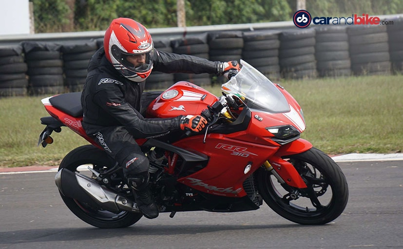 tvs apache rr 310 track review