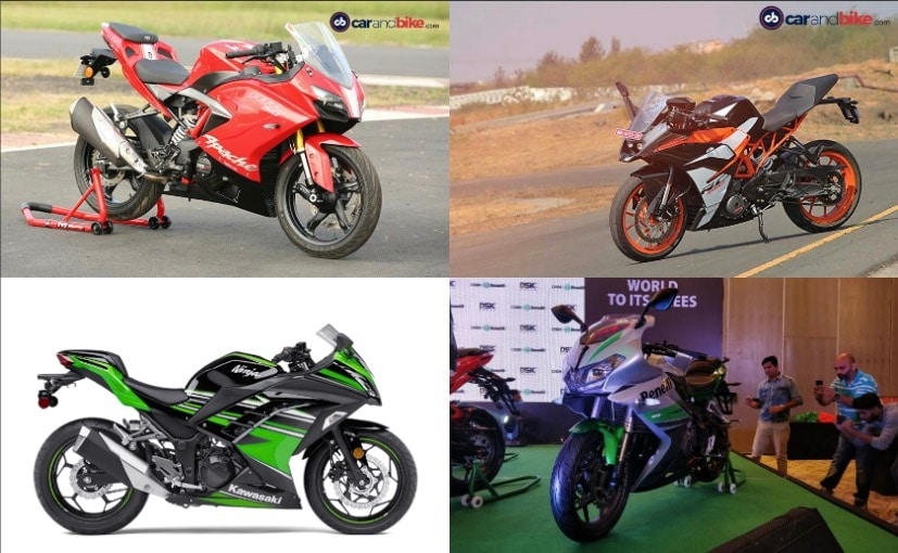 tvs apache rr 310 vs ktm rc 390 vs kawasaki ninja 300 vs. Black Bedroom Furniture Sets. Home Design Ideas