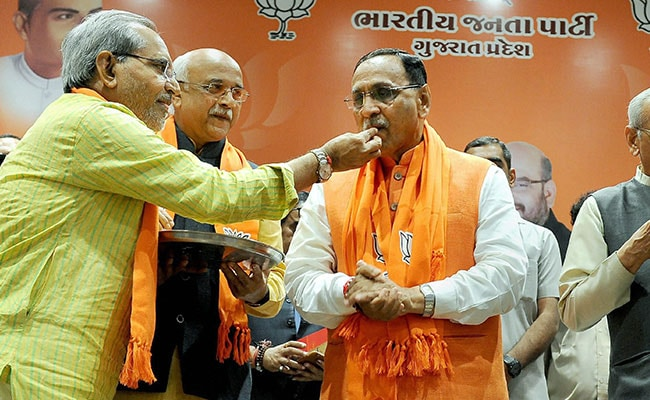 Low-Profile RSS Man Vijay Rupani Back In Chief Minister's Chair In Gujarat