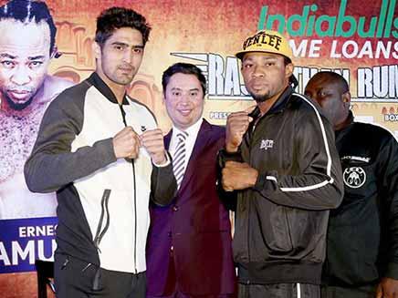 Vijender Singh vs Ernest Amuzu, Highlights: Indian Star Registers 10th Straight Win