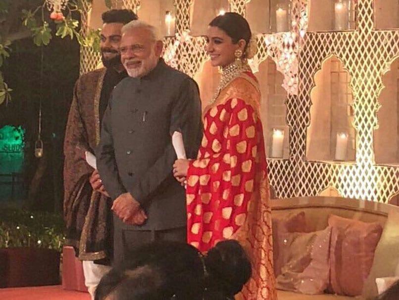Prime Minister Narendra Modi Attends Virat Kohli, Anushka Sharma