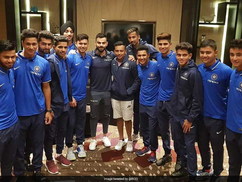 Ace-of-chase Virat Kohli offers tips to India U-19 squad