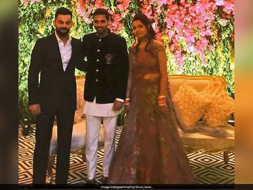 Team India Attends Bhuvneshwar Kumar, Nupur Nagar's Delhi Reception. See Photos