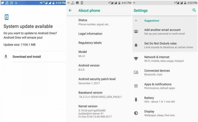 xiaomi mi a1 android oreo beta update