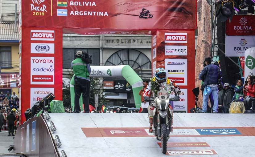 2018 Dakar, Stage 6: Pedrero Leads In 16th; CS Santosh Finishes 51st As Rally Reaches Half Way